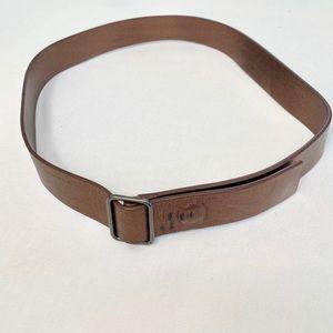 Ports copper leather belt